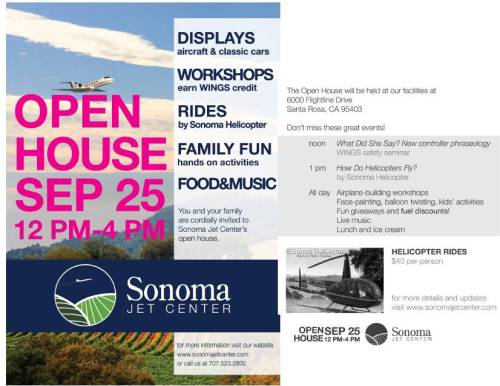 Open House at Sonoma Jet Center, Sept. 25 2010