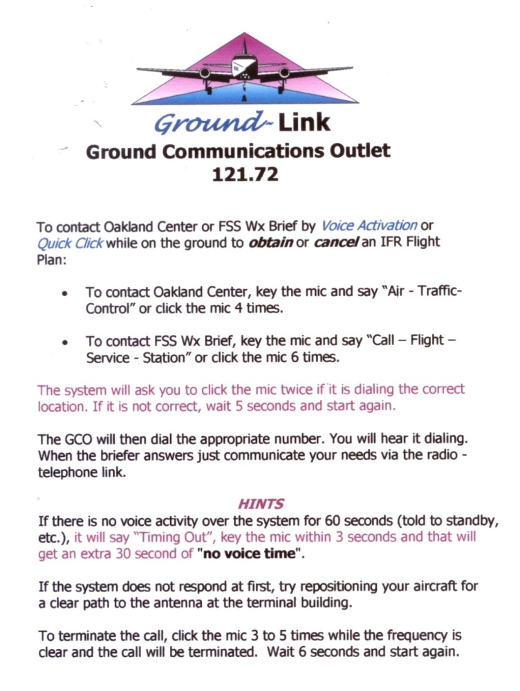 New Ground Link Communications Options