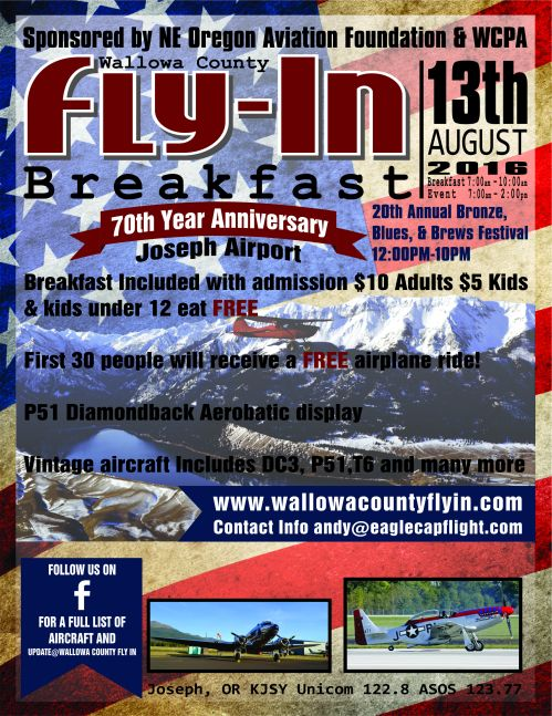 Wallowa County Fly-in 2016